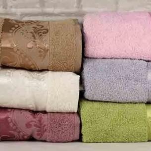Набор полотенец для ванной 6 шт. Luzz LEYLAK хлопковая махра 70х140