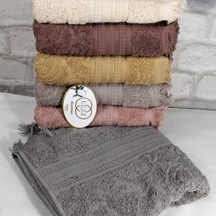 Набор полотенец для ванной 6 шт. Luzz SACAKLI хлопковая махра 50х90