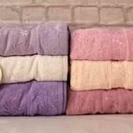Набор полотенец для ванной 6 шт. Luzz SARMASIK хлопковая махра 30х50, фото, фотография