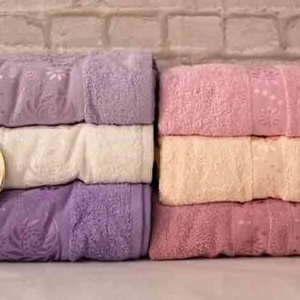Набор полотенец для ванной 6 шт. Luzz SARMASIK хлопковая махра