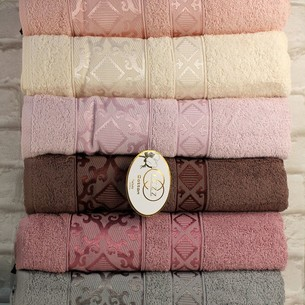 Набор полотенец для ванной 6 шт. Luzz SIRMA хлопковая махра 70х140