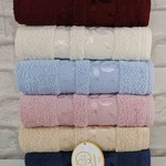 Набор полотенец для ванной 6 шт. Luzz ZAMBAK хлопковая махра 30х50, фото, фотография