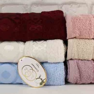 Набор полотенец для ванной 6 шт. Luzz GEOMETRIK хлопковая махра 70х140