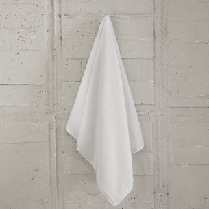 Полотенце для ванной Karna ARKADYA хлопковый микрокоттон белый 50х70