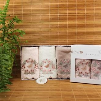 Подарочный набор полотенец-салфеток 3 шт. Pupilla ARMONI бамбуковая махра