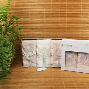 Подарочный набор полотенец-салфеток 3 шт. Pupilla ROSELINDA бамбуковая махра