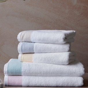 Полотенце для ванной Soft Cotton MOLLIS хлопковая махра голубой 75х150