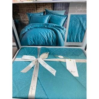 Постельное белье Saheser JACQUARD VIP SATIN хлопковый сатин-жаккард бирюзовый