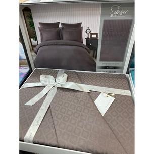 Постельное белье Saheser JACQUARD VIP SATIN хлопковый сатин-жаккард кофейный евро
