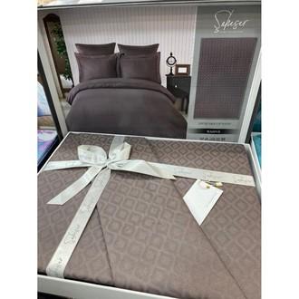 Постельное белье Saheser JACQUARD VIP SATIN хлопковый сатин-жаккард кофейный