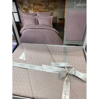 Постельное белье Saheser JACQUARD VIP SATIN хлопковый сатин-жаккард лиловый