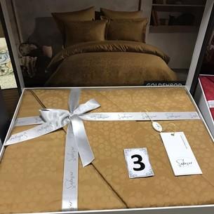 Постельное белье Saheser JACQUARD VIP SATIN хлопковый сатин-жаккард золотой евро