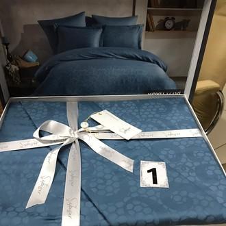Постельное белье Saheser JACQUARD VIP SATIN хлопковый сатин-жаккард тёмно-синий