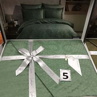 Постельное белье Saheser JACQUARD VIP SATIN хлопковый сатин-жаккард зелёный