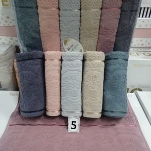 Набор полотенец для ванной 6 шт. Cestepe LUX COTTON DORE хлопковая махра 50х90