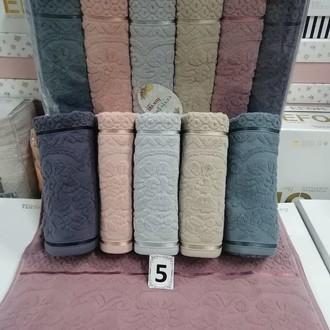 Набор полотенец для ванной 6 шт. Cestepe LUX COTTON DORE хлопковая махра
