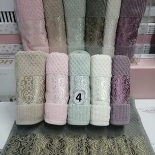 Набор полотенец для ванной 6 шт. Cestepe LUX COTTON ELLA хлопковая махра 70х140