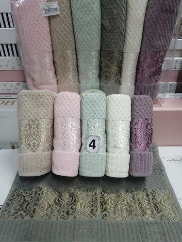 Набор полотенец для ванной 6 шт. Cestepe LUX COTTON ELLA хлопковая махра 70х140, фото, фотография