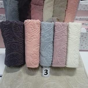 Набор полотенец для ванной 6 шт. Cestepe LUX COTTON SENFONI хлопковая махра 50х90