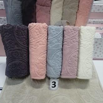 Набор полотенец для ванной 6 шт. Cestepe LUX COTTON SENFONI хлопковая махра