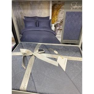 Постельное белье Saheser JACQUARD VIP SATIN хлопковый сатин-жаккард серый евро