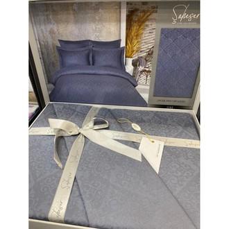 Постельное белье Saheser JACQUARD VIP SATIN хлопковый сатин-жаккард серый