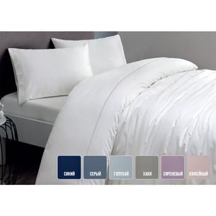 Постельное белье Tivolyo Home CASUAL хлопковый сатин делюкс голубой 1,5 спальный