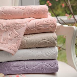 Полотенце для ванной Tivolyo Home JADORE хлопковая махра розовый 90х150