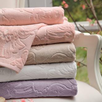 Полотенце для ванной Tivolyo Home JADORE хлопковая махра розовый