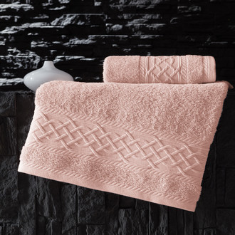 Полотенце для ванной Karna GRAVIT хлопковая махра абрикосовый