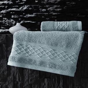 Полотенце для ванной Karna GRAVIT хлопковая махра небесно-синий 70х140