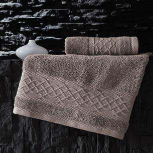 Полотенце для ванной Karna GRAVIT хлопковая махра бежевый 50х90