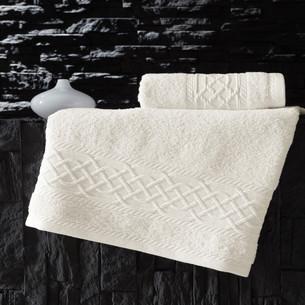 Полотенце для ванной Karna GRAVIT хлопковая махра экрю 70х140