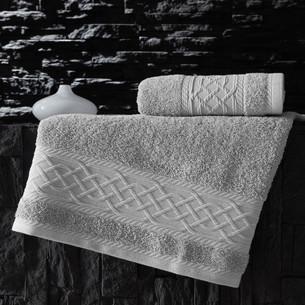 Полотенце для ванной Karna GRAVIT хлопковая махра серый 50х90