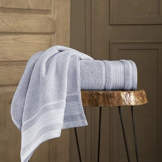 Полотенце для ванной Karna LADIN хлопковая махра серый