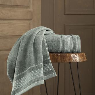 Полотенце для ванной Karna LADIN хлопковая махра хаки
