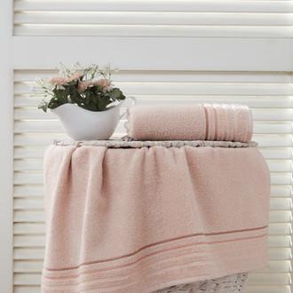 Полотенце для ванной Karna SOLAR хлопковая махра абрикосовый