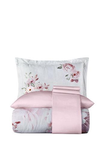 Постельное белье Karna EXCLUSIVE MONA ROZA хлопковый сатин 1,5 спальный, фото, фотография