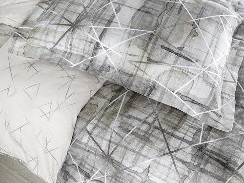 Постельное белье Karna EXCLUSIVE PLEGI хлопковый сатин евро, фото, фотография