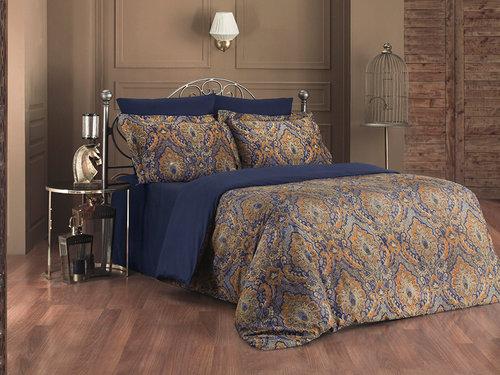 Постельное белье Karna EXCLUSIVE SULTAN хлопковый сатин 1,5 спальный, фото, фотография