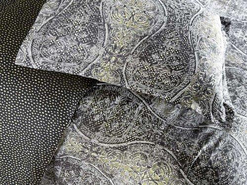 Постельное белье Karna EXCLUSIVE GAUS хлопковый сатин семейный, фото, фотография