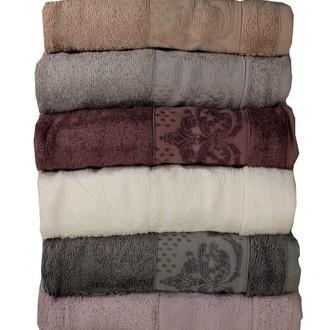 Набор полотенец для ванной 6 шт. Pupilla DAMLA бамбуковая махра