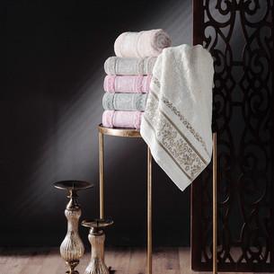 Набор полотенец для ванной 6 шт. Pupilla VIOLA бамбуковая махра 70х140