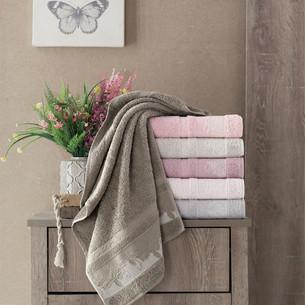 Набор полотенец для ванной 6 шт. Pupilla FIDAN бамбуковая махра 70х140