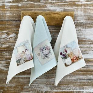 Подарочный набор кухонных полотенец Tivolyo Home BLUEBELL хлопковая вафля