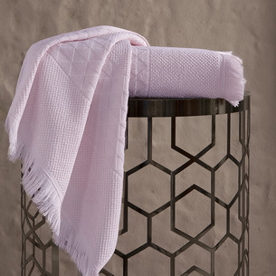 Полотенце для ванной Karna MONARD бамбуковая махра пудра 70х140
