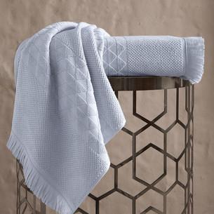 Полотенце для ванной Karna MONARD бамбуковая махра светло-серый 50х90