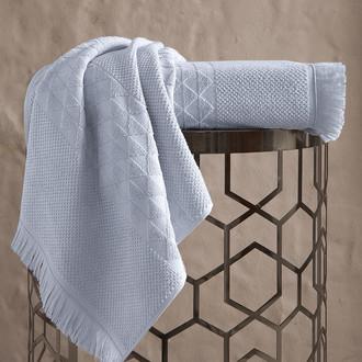 Полотенце для ванной Karna MONARD бамбуковая махра светло-серый