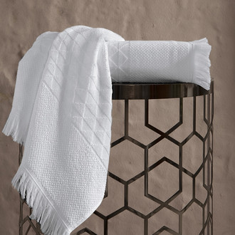 Полотенце для ванной Karna MONARD бамбуковая махра экрю
