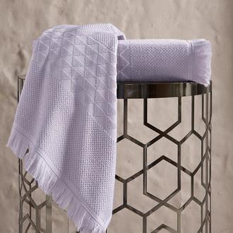Полотенце для ванной Karna MONARD бамбуковая махра светло-лавандовый